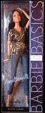 Barbie Basics model No.4 collection 2.1 model muse metallic gold top dark hair