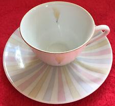 HUTSCHENREUTHER Kaffeetasse (Goldrand) & ESCHENBACH Untertasse - RETRO / Vintage