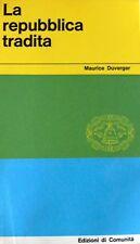 MAURICE DUVERGER LA REPUBBLICA TRADITA EDIZIONI DI COMUNITÀ 1960