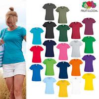 Fruit of the Loom Women's Lady-fit Original T-shirt - Plain Casual Cotton Tee
