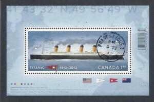 2012 Titanic Souvenir Sheet First Day Cancel