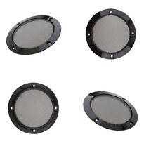 4psc 4inch Replacement Round Speaker Protective Mesh Cover Speaker Grille