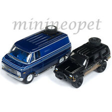 JOHNNY LIGHTNING JLPK003 1976 CHEVY VAN & OFFROAD 1998 JEEP CHEROKEE 1/64 SET