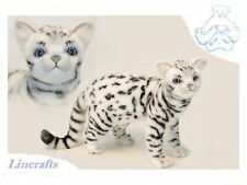 Standing White Bengal Cat Plush Soft Toy Feline by Hansa. 6352