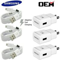 For OEM Samsung Galaxy S7 S6 J7 Note5 Original Fast Wall Charger Micro USB Cable