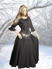 Mittelalter Gothic Larp  Rock Bluse Kleid 2teilig schwarz braun grün 38 40 42 44