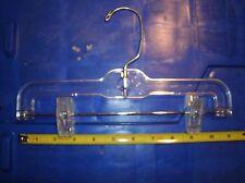 "100 11"" Clear Kids Children Bottom Pants Hangers Plastic Swivel Hook Adjustable"