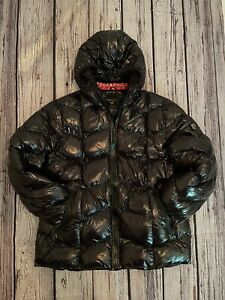 Geographical Norway Mens Black Shiny Puffer Coat Size XXL Immaculate Water Repel