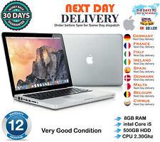 "Apple MacBook Pro 13.3"" intel Core i5 2.3GHz 8GB RAM 500GB HDD Erly 2011 A Grade"