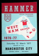 West Ham United v Manchester City  12-3-1977