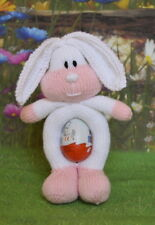RONNIE RABBIT EASTER EGG HOLDER TOY  KNITTING PATTERN INSTRUCTIONS TO MAKE