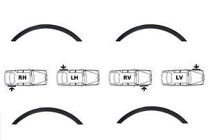 VW CRAFTER Radlauf Zierleisten SCHWARZ MATT satz 4 Stück Vorne Hinten '06-16