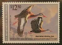SCOTT RW57 1990 $12.50 BLACK BELLIED DUCK STAMP MNH OG XF90 w/PSE CERT