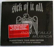 SICK OF IT ALL - DEATH TO TYRANTS - Persistence Tour Edition CD Sigillato