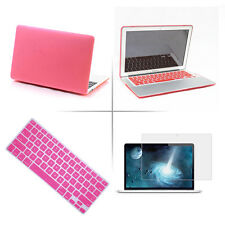 "Rubberized Hard Case+Keyboard Cover+LCD Film For Apple Mac Book Air 11""/ 13"" Pro"