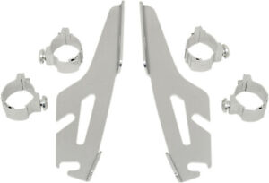 Memphis Shades Polished Trigger-Lock Mount Kit for Fats/Slim Windshields MEM8972