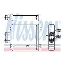 Fits Skoda Fabia 6Y2 1.9 TDI RS Nissens Heat Exchanger Interior Heater Matrix