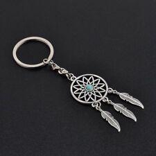 Women Boho Festival Hippie Feather Tassel Dream Catcher Keyring Keychain Gift