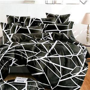 4tlg.Bettwäsche 160x200 Deckenbezug 2x Kissenbezug 1x Bettlaken Schlafzimmer