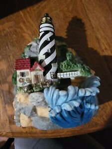 2000 Heritage Mint Water Fountain Collection Light House Waterfall Musical