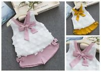 Girls Top and Shorts sets Sleeveless Outfit Summer Set Age 1 2 3 4 5 years