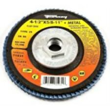 Forney 71933 Flap Disc, Type 29 Blue Zirconia with 5/8-Inch-11 Threaded Arbor, 1