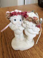 "Vintage 1997 Dreamsicles Cast Art  Miniature Kissing Cherub/Angels 3"" Figurine"