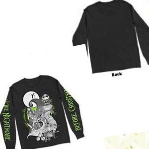 The Nightmare Before Christmas Green Glow Official Licensed Long Sleeve T-Shirt
