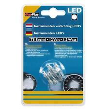 KFZ Autolampen LED 5 Stück Tachobeleuchtung T5 Sockel 12V 1,2 Watt Weiß