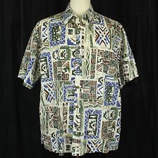 Cooke Street Hawaiian Camp Aloha 100% Cotton Shirt Men Size XL EUC