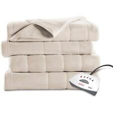 Sunbeam Electric Fleece Heated Blanket Twin Soft Warming in Seashell Color-New