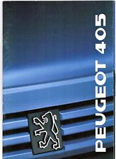 Peugeot 405 Saloon 1988-89 UK Market Sales Brochure Mi16 GTX SRi GR GL GE