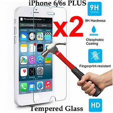 x2 Tempered Glass 9H screen protector Apple iPhone 6 6s PLUS Front