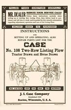 Case No. 108 Two Row Listing Plow Operators Manual