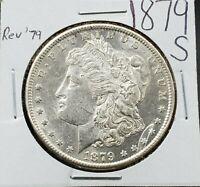 1879 S Morgan Silver Eagle Dollar $1 Coin Average BU UNC Uncirculated REV 79