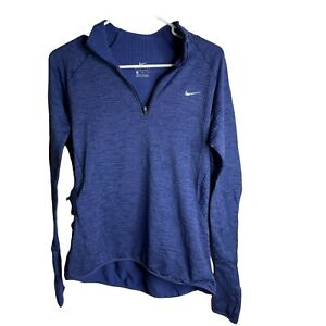 Nike Dri-Fit Therma Textured 1/2 Zip Pullover Training Mock Sweater Women's M