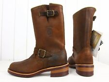 NEW CHIPPEWA MOTORCYCLE 27911 BOOTS BROWN LEATHER  US 8,5EE