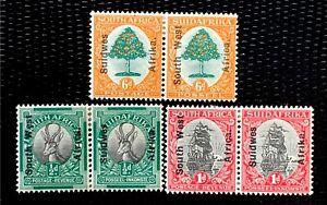 1962 South Africa Stamps SC#85-87 Complete Set CV:$33