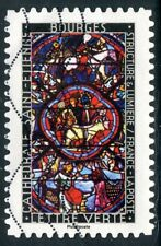 TIMBRE FRANCE  AUTOADHESIF OBLITERE N° 1354 / VITRAUX / BOURGES