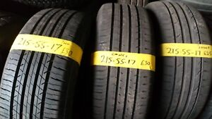 215 55 17 PART WORN TYRE  FITTED AND BALANCED