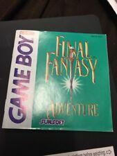 GameBoy game - Final Fantasy Adventure ENGLISH CIB, boxed