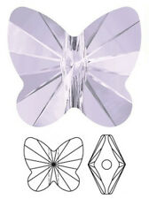 ONE SWAROVSKI CRYSTAL BUTTERFLY BEAD / PENDANT 5754, SMOKY MAUVE, 10  MM