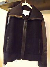 Derek Lam Athleta Elevate Sherpa Fleece Leather Jacket Coat Retail $428 XL NWOT