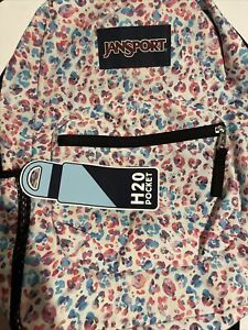 JANSPORT Cross Town Backpack Leopard Dots1550 Cubic Inches Water Holder 720