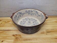 New listing Temptations By Tara Floral Lace Cobalt Blue 1.5 Quart Bowl Kfi-Xng-778690