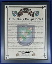 Mc-Nice: Army Ranger Creed All Battalions / Units Available Framed Personalized