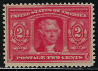 SCOTT 324 1904 2 CENT LOUISIANA PURCHASE EXPOSITION ISSUE MH OG F-VF CAT $15!