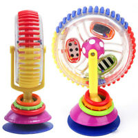 Child Sassy Rainbow Observe Ferris Wheel Rattle Suction High Chair Kids Baby Toy