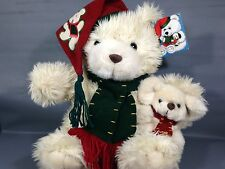 CALLIE & FRIENDS Plush Ivory TEDDY BEAR & MOUSE 1998 Holiday Stuffed Animal TAG