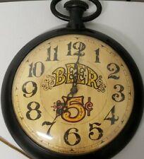 Vintage Clock Spartus 5 cent beer clock